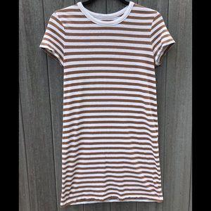 Lou & Grey Striped T-Shirt Dress